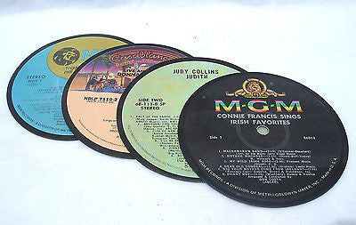 Recycled Record Drink Coasters