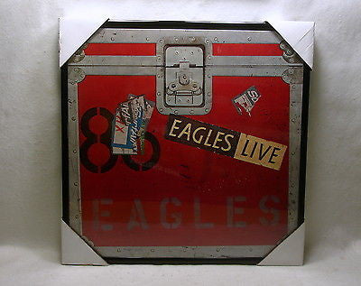 "EAGLES Framed Album Cover ""LIVE"" (1980)"