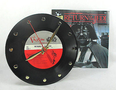 Clock made w/a STAR WARS Record / Return Of The Jedi / With Story Book