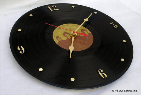 "Clock made w/a BEATLES Record ""Love Songs"" (1977)"