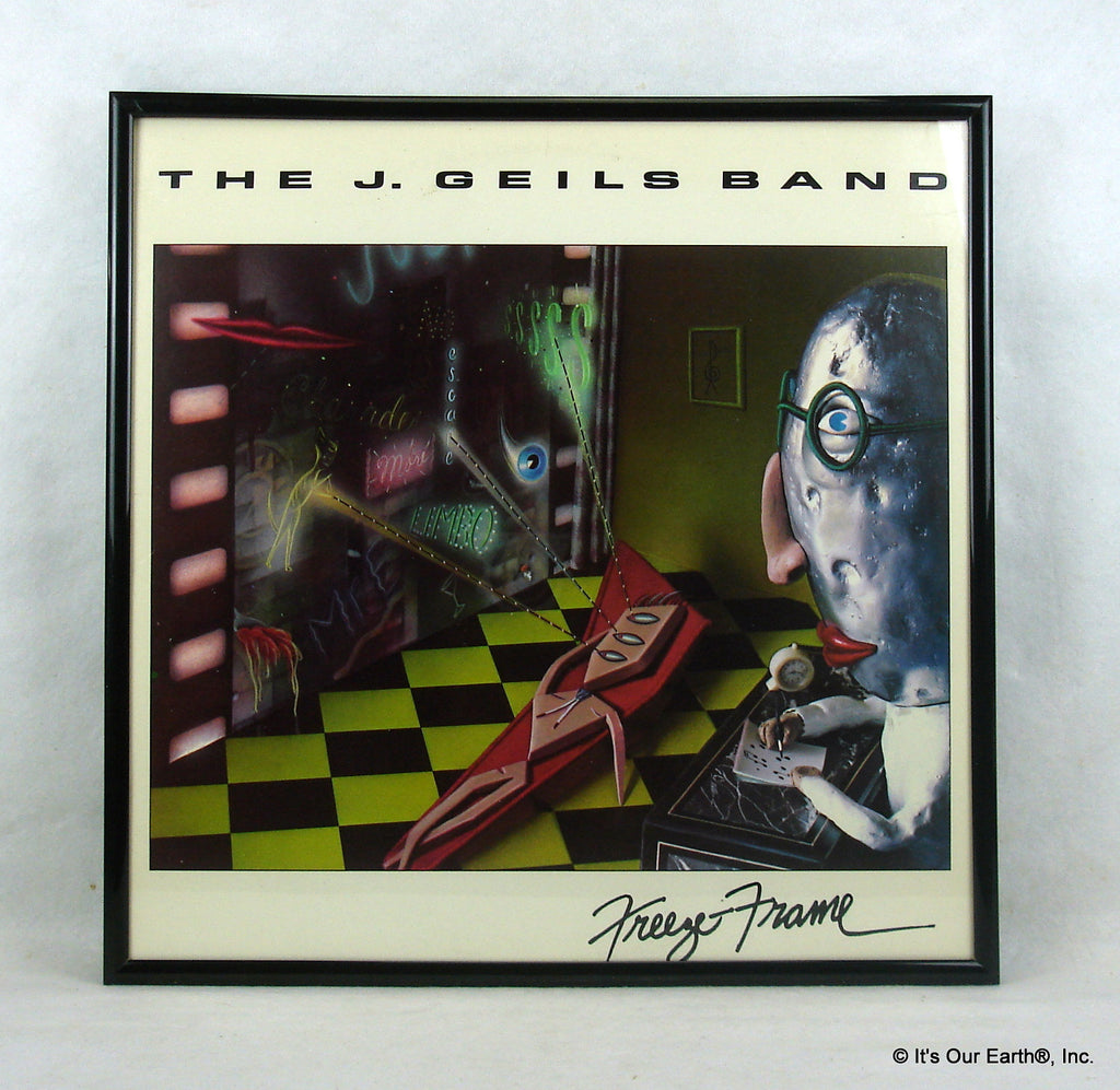 J GEILS BAND Framed Album Cover \