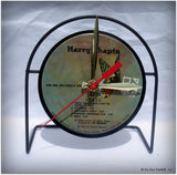 "Desk Clock made w/a HARRY CHAPIN LP / ""Heads & Tails"" Recycled Record"