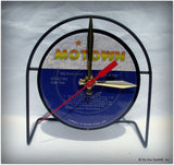 Recycled Record Label Desk Clock