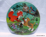 Clock made w/a FOX AND THE HOUND Record / Disney Soundtrack / Picture Disc