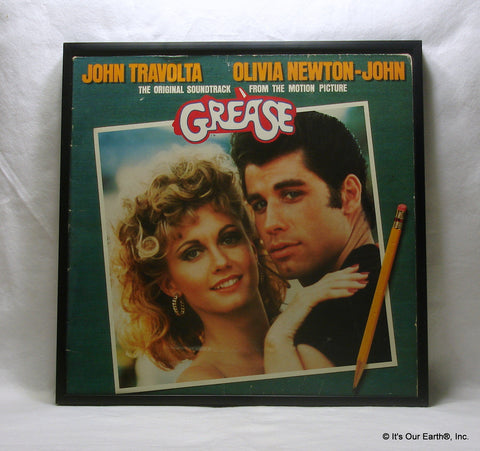 GREASE Framed Album Cover Movie Soundtrack (1978)