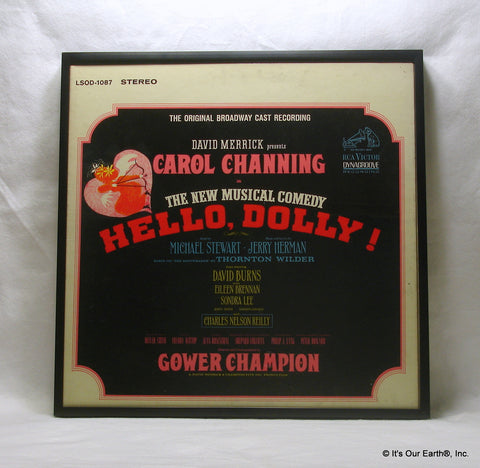 HELLO, DOLLY! Framed Album Cover - Musical  Broadway Cast (1964)