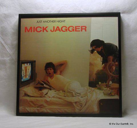 "MICK JAGGER Framed Album Cover ""Just Another Night"" (1985)"