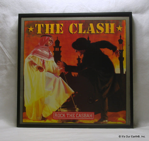 "THE CLASH Framed Album Cover ""Rock The Casbah"" (1982)"