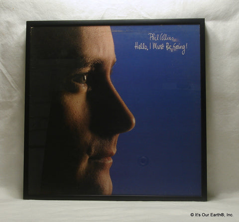 "PHIL COLLINS Framed Album Cover ""Hello, I Must Be Going"" (1982)"