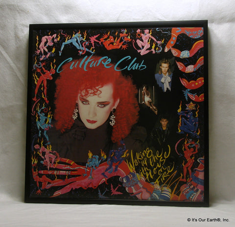 "CULTURE CLUB Framed Album Cover ""Waking Up With The House On Fire"" (1984)"