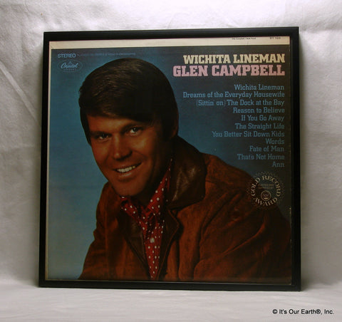 "GLEN CAMPBELL Framed Album Cover ""Wichita Lineman"" (1968)"