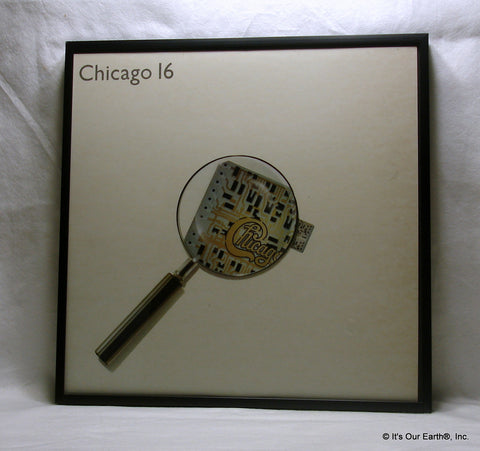 "CHICAGO Framed Album Cover ""Chicago 16"" (1982)"