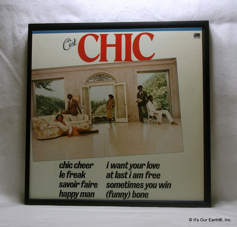 "CHIC Framed Album Cover ""C'est Chic"" (1978)"