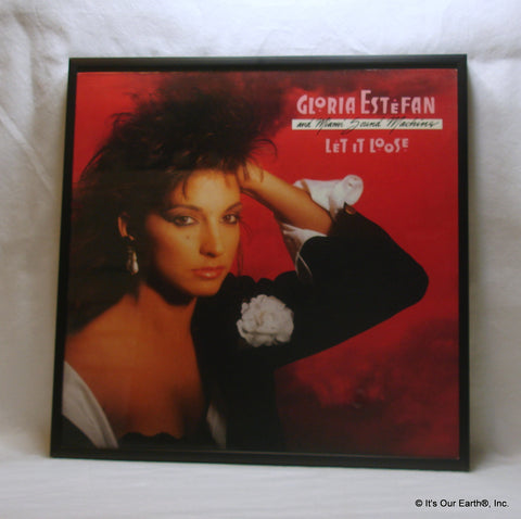 "GLORIA ESTEFAN Framed Album Cover ""Let It Loose"" (1987)"