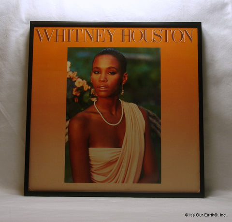 "WHITNEY HOUSTON Framed Album Cover ""Whitney Houston"" (1985)"