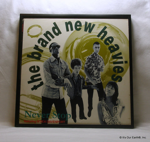 "BRAND NEW HEAVIES Framed Album Cover ""Never Stop w/N'Dea Davenport"" (1992)"