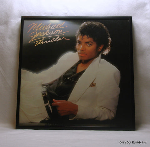 "MICHAEL JACKSON Framed Album Cover ""Thriller"" (1982)"