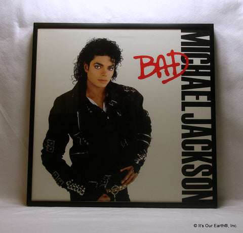 "MICHAEL JACKSON Framed Album Cover ""BAD"" (1987)"