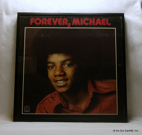 "MICHAEL JACKSON Framed Album Cover ""Forever, Michael"" (1975)"