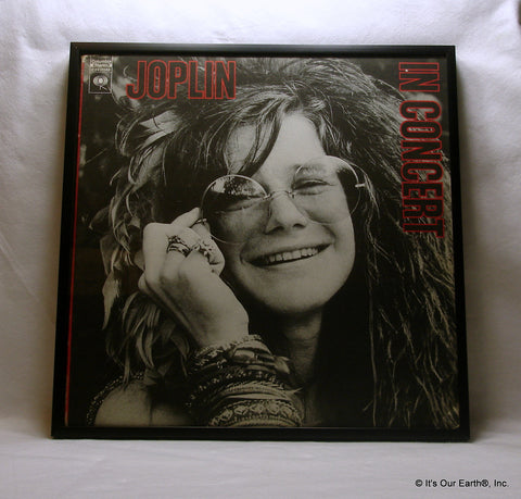 "JANIS JOPLIN Framed Album Cover ""In Concert"" (1972)"