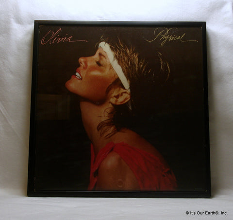 "OLIVIA NEWTON-JOHN Framed Album Cover ""Physical"" (1981)"