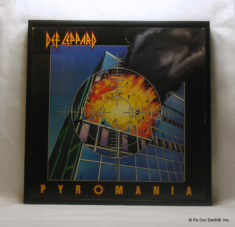 "DEF LEPPARD Framed Album Cover ""Pyromania"" (1983)"