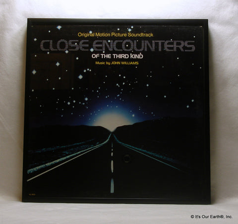 "CLOSE ENCOUNTERS Framed Album Cover ""Movie Soundtrack"" (1977)"