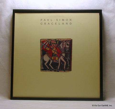 "PAUL SIMON Framed Album Cover ""Graceland"" (1986)"