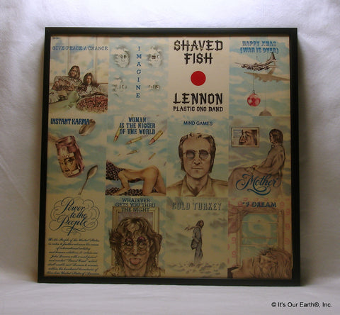 "JOHN LENNON PLASTIC ONO BAND Framed Album Cover ""Shaved Fish"" (1975)"