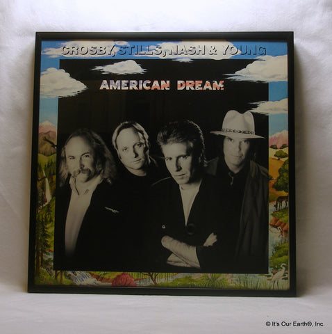 "CROSBY, STILLS, NASH & YOUNG Framed Album Cover ""American Dream"" (1988)"