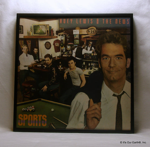 "HUEY LEWIS Framed Album Cover ""Sports"" (1983)"