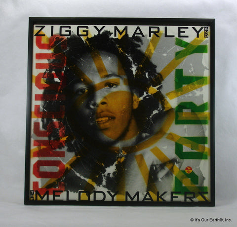 "ZIGGY MARLEY Framed Album Cover ""Conscious Party"" (1988)"