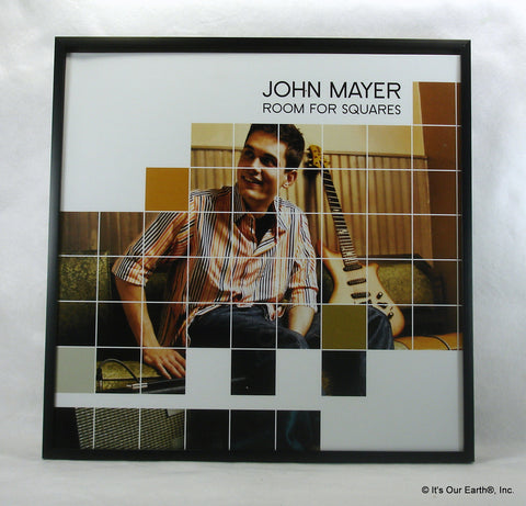 "JOHN MAYER Framed Album Cover ""Room For Squares"" (2001)"