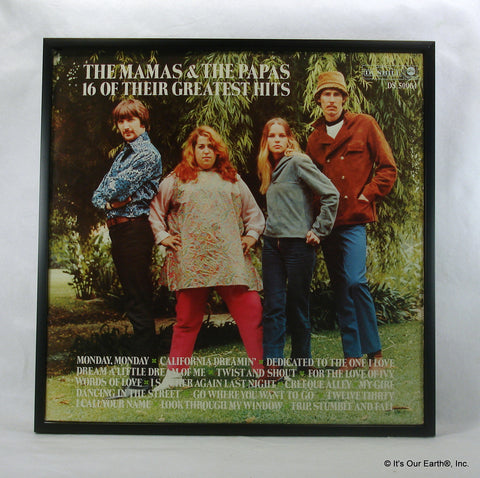 "The MAMAs & The PAPAs Framed Album Cover ""16 of Their Gratest Hits"" (1969)"