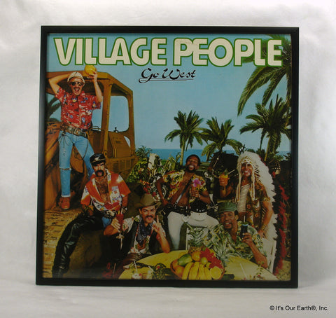 "VILLAGE PEOPLE Framed Album Cover ""Go West"" (1979)"
