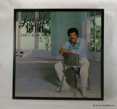 "LIONEL RICHIE Framed Album Cover ""Can't Slow Down"" (1983)"