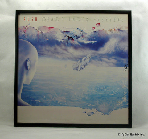 "RUSH Framed Album Cover ""Grace Under Pressure"" (1984)"