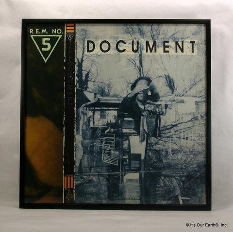 "R.E.M. Framed Album Cover ""Document"" (1987)"