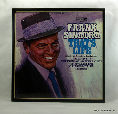 "FRANK SINATRA Framed Album Cover ""That's Life"" (1966)"