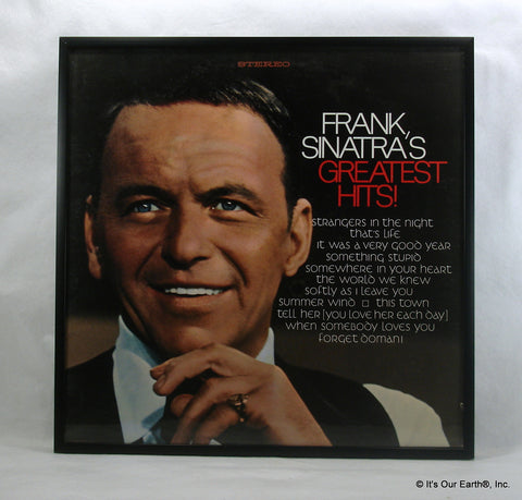 "FRANK SINATRA Framed Album Cover ""Greatest Hits"" (1968)"