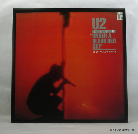 "U2 Framed Album Cover ""Under A Blood Red Sky"" (1983)"