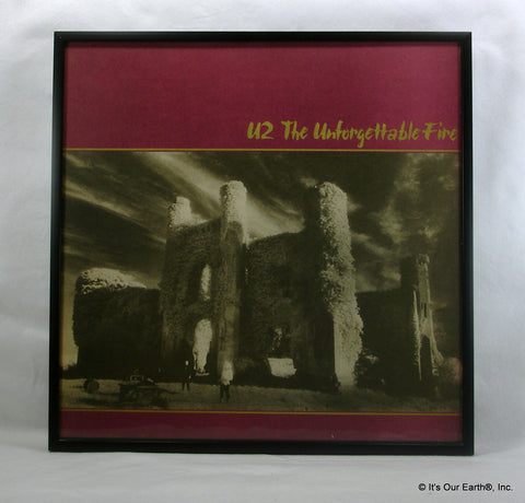 "U2 Framed Album Cover ""The Unforgettable Fire"" (1984)"