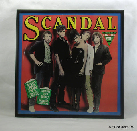 "SCANDAL Framed Album Cover ""Scandal"" (1982)"