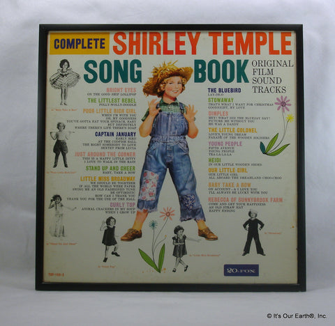 "SHIRLEY TEMPLE Framed Album Cover ""Complete Songbook"" (1961)"