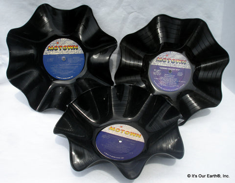 Recycled LP Record Bowls 3 Pack