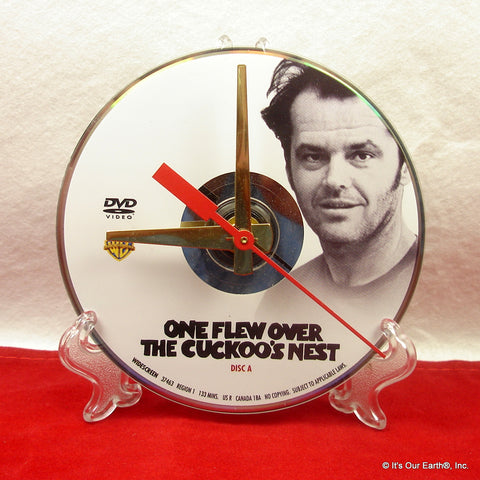 Recycled DVD Video Disc Desk Clock