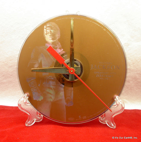 Recycled Video DVD Desk Clock