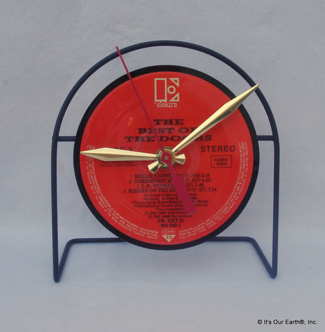 Recycled Record LP Desk Clock