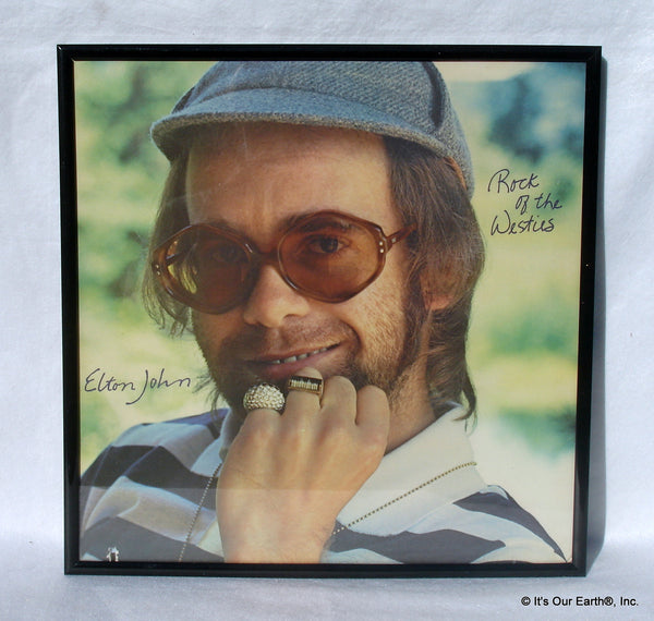 Elton John Framed Album Cover Quot Rock Of The Westies Quot 1975