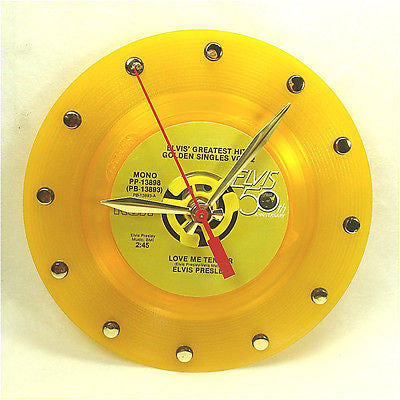 Recycled 45rpm Record Clock Color Vinyl
